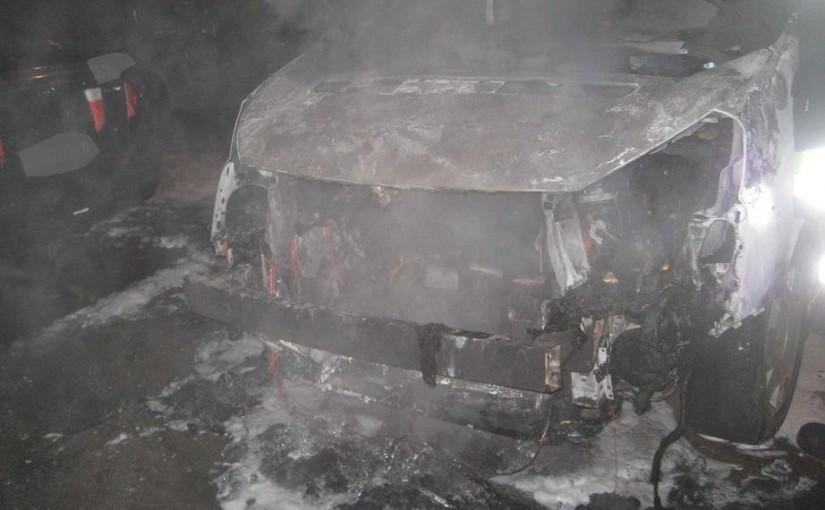 Fahrzeugbrand 11.01.2015